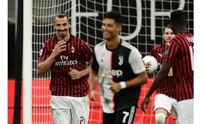 A 38 éves Zlatan Ibrahimovic történelmet írt az olasz bajnokságban