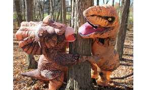 Eljegyzés dinoszaurusz jelmezben – ez lenne a legújabb esküvői trend?
