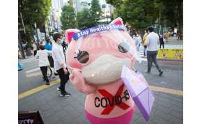 Japánban egy imádnivaló, rózsaszín macska lett a koronavírus elleni küzdelem kabalája