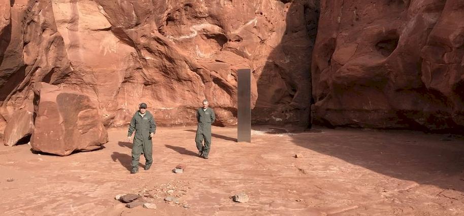 UFO-kutatókat lázban tartó rejtélyes fémoszlop
