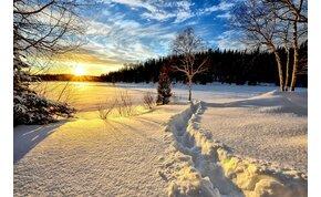 Hatalmas pelyhekben hullott a hó Magyarországon - képek