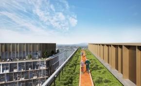 Tetőtéri futópálya épül Budapesten – Így fog kinézni