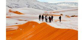 Csodálatos videók készültek a hófedte Szaharáról