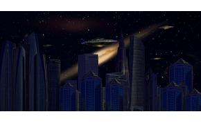 Brutális méretű földönkívüli űrhajó jelent meg New York felett az égen? - fotó