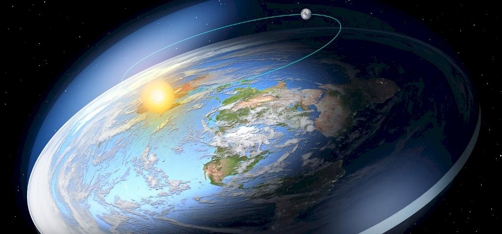 Egy skót férfi felzavarna az űrbe egy laposföld-hívőt