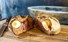 Finomságok húsvétra: kovászos cipóban sült füstölt sonka - recept