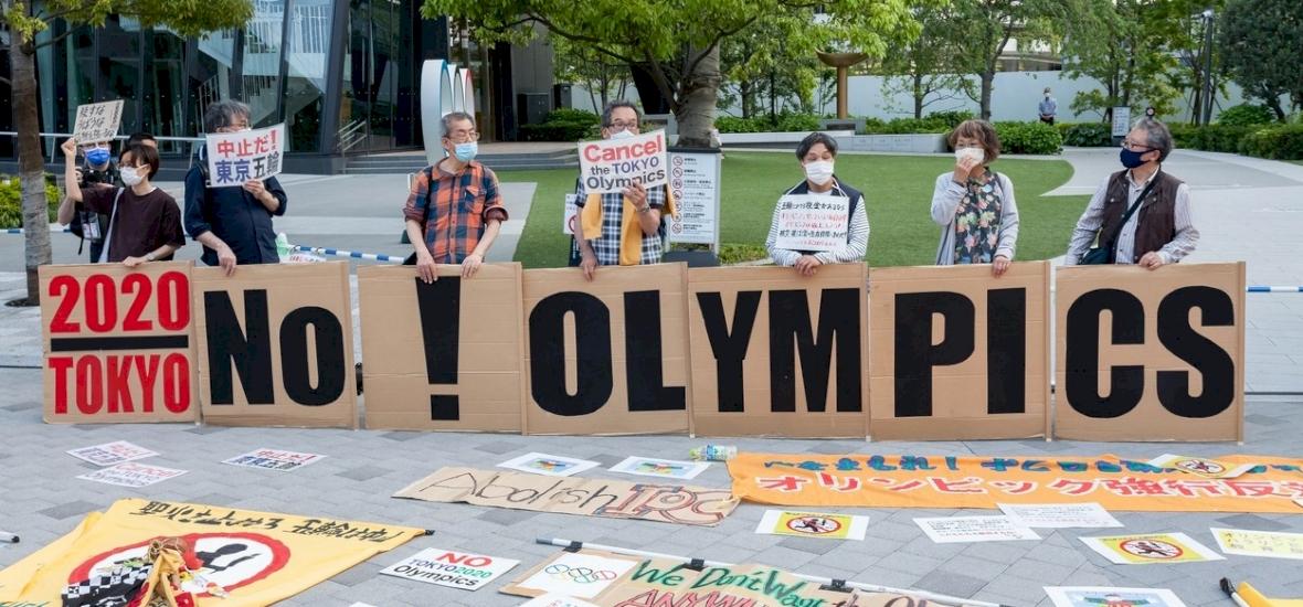 A japánok az olimpia megrendezése ellen tüntetnek