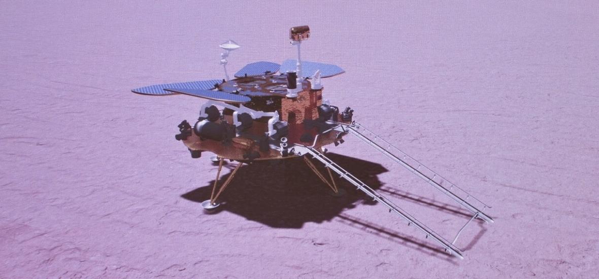 A kínai Marsjáró is megérkezett a Vörös Bolygóra
