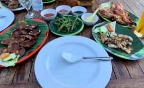 Bali: ételorgia a tenger mellett