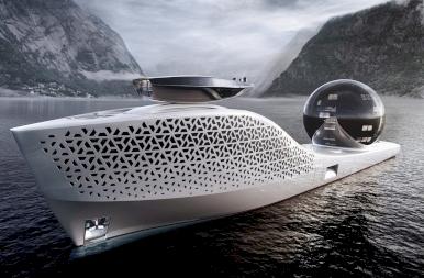 A Titanicnál is hosszabb felfedező szuperjacht indul 2025-ben
