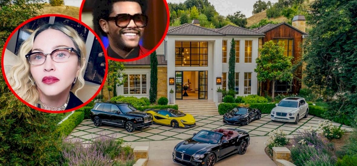 Madonna elképesztő összegért vette meg a The Weeknd kúriáját - Less be hozzá!