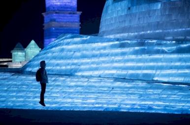 Megnyílt a harbini jégfesztivál, Kína