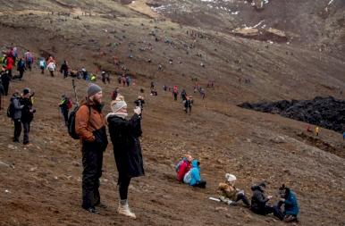 Kockázatos látvány Izlandon